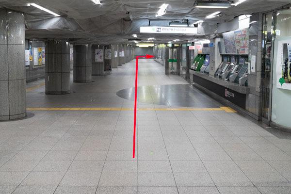 ヒルトン東京アクセス 都庁前駅から1