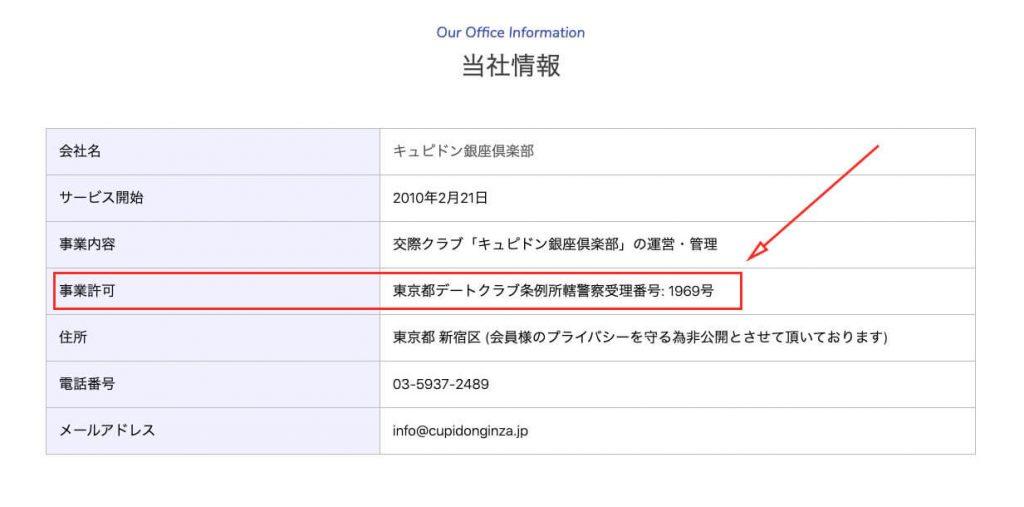 熟女 交際クラブ キュピドン銀座 東京都デートクラブ条例所轄警察